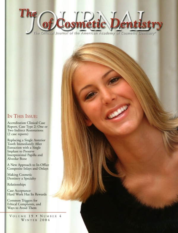 the journal of cosmetic dentistry